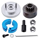 #6: RC 14T Clutch Bell + Shoes with Spring +Flywheel Assembly Kit Set for Redcat Volcano S30 SH-18 VX-18 Nitro Engine Parts