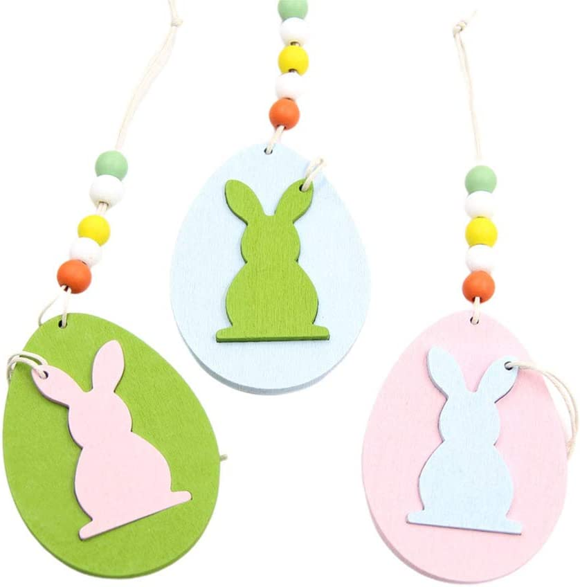 Easter Hanging Ornaments Wooden Bunny Kit