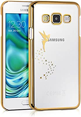 kwmobile Funda compatible con Samsung Galaxy A3 (2015) - Carcasa de [TPU] con diseño de hada en [dorado / transparente]