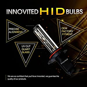 "Innovited HID Xenon Replacement Bulbs ""All Sizes and Colors""- H7 6000K (1 Pair)"