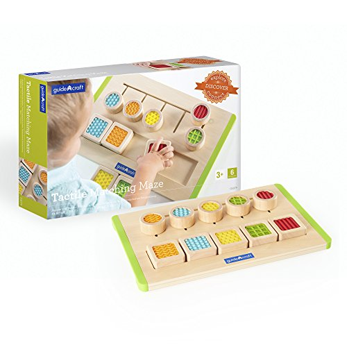 Guidecraft Colorful Tactile Matching Maze - Sensory Memory Game for Toddlers, Soft Touch Textures Children's Toy - Guidecraft Infant Toy Box