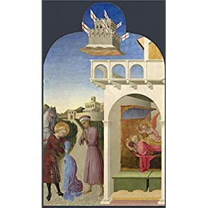 Oil Painting 'Sassetta-Saint Francis And The Poor Knight, And Francis's Vision,1437-44' Printing On High Quality Polyster Canvas , 18x30 Inch / 46x77 Cm ,the Best Dining Room Decoration And Home Gallery Art And Gifts Is This Cheap But High Quality Art