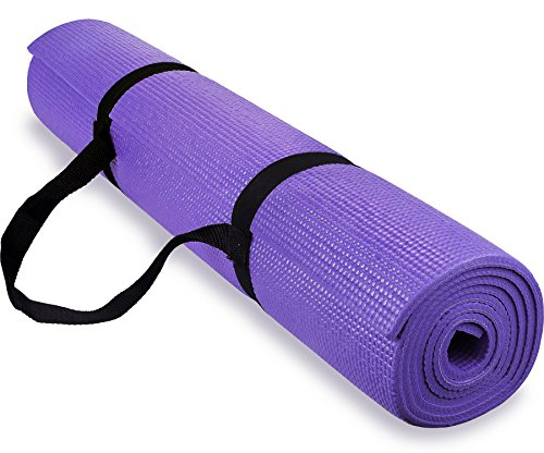 Spoga 1/4-Inch Anti-Slip Exercise Yoga Mat with Carrying Str