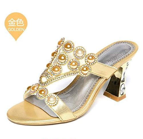 SSBY 7Cm Drag Sommer Im Wort Mode Absätzen Diamond Hohen Schuhe Mit Sexy Forty Grob Diamanten UEUqrwx