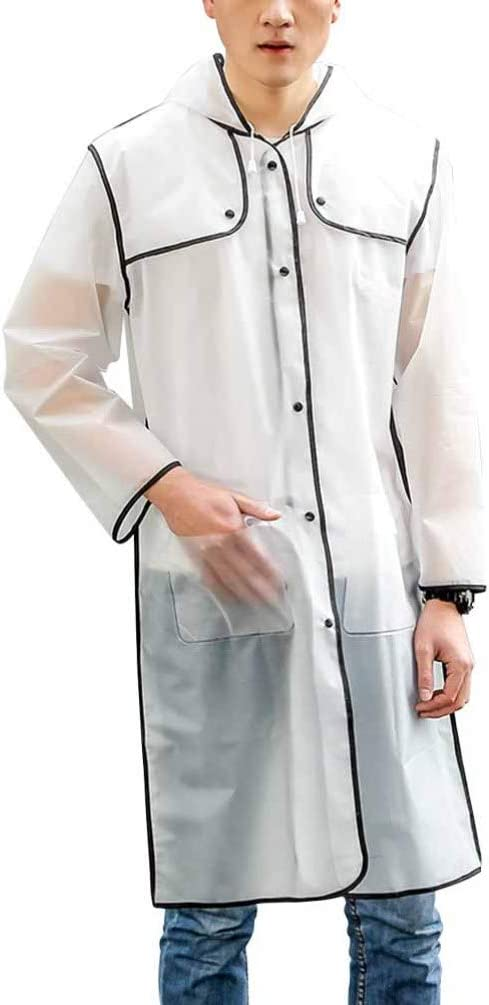 PRETYZOOM 2 Piezas Overoles de Protección Impermeable Transparente Impermeable Traje de Cuerpo Overoles Médicos Overoles con Capucha Quirúrgicos Industriales - Talla M