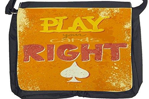 Borsa Tracolla Proverbi Giochi carte Stampato