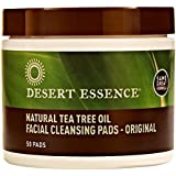 Desert Essence Natural Cleansing Pads withTea Tree Oil, 50ct