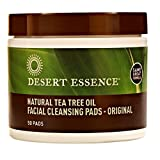 Cleansing With Tea - Desert Essence Natural Tea Tree Oil Facial Cleansing Pads Original, 50 Count