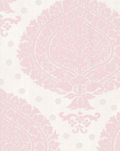 4 women + walls wallpaper, color: antique pink, white-grey, light grey, article no:. 6054-0367