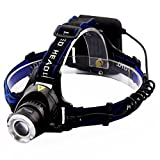 Head Torches, Meyoung Super Bright LED Head Torch Lamp XM-L T6 LED Head Light for Running Hiking Camping Fishing Working Cycling Reading Zoom Headlamp Headlight with Adjustable Headband