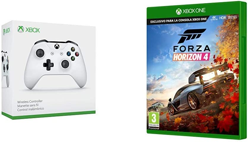 Microsoft 1708 - Mando Inalámbrico, Color Blanco (Xbox One), Bluetooth [Modelo antiguo] + Forza Horizon 4: Amazon.es: Videojuegos
