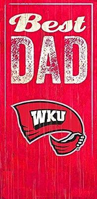 Fan Creations Western Kentucky Best Dad Sign, Multicolored
