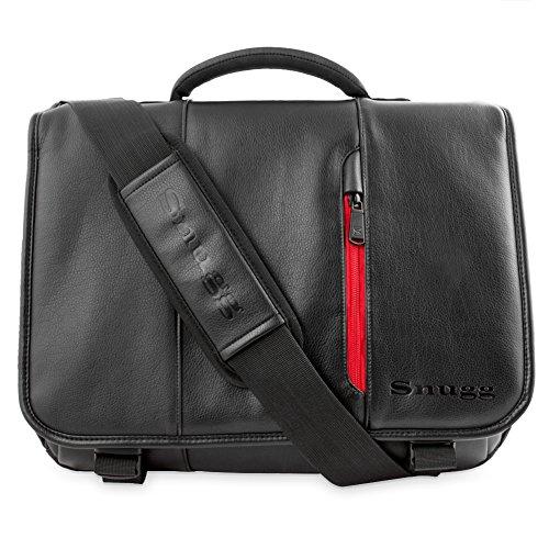Laptoptasche, Snugg - Schwarze Notebooktasche - Umhängetasche für Laptops mit einer Bildschirmdiagonale von bis zu 17 Zoll