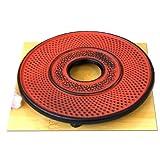 Trivet round hobnail sunset red 14cm