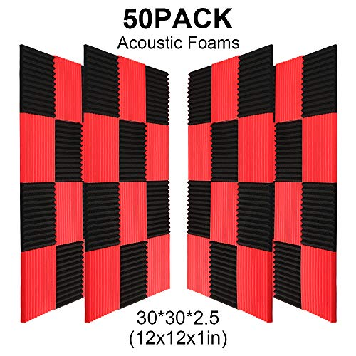 50 Pack BlackRed Acoustic