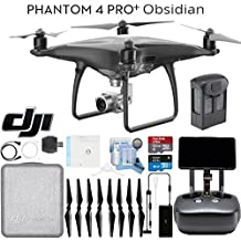DJI Phantom 4 Pro+ Obsidian Quadcopter Drone, Remote with Built in Screen & Ready To Fly Bundle