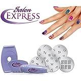 Saiyam Salon Express Nail Polish Art Decoration Stamping Design Kit Decals Paint Stamp