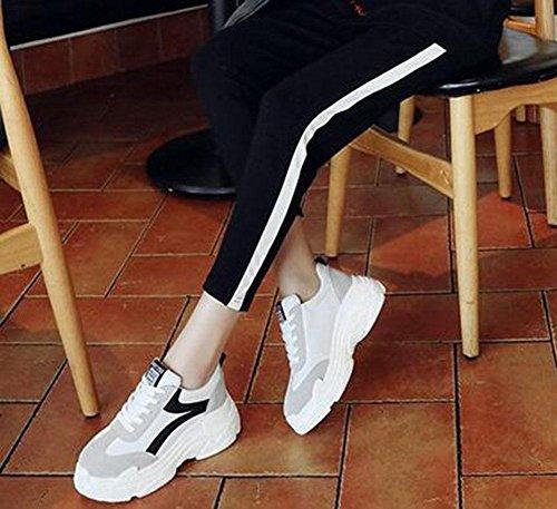 KUKI weiße runde Schuhe black Kreuzspitze Damenmode Schuhe flache q5rqtOw
