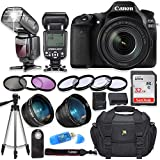 Canon EOS 80D Digital SLR Camera with Canon EF-S 18-135mm f/3.5-5.6 is USM Lens + High Speed Electronic Flash + Sandisk 32GB SDHC Memory Card, Camera Bag, Macros and Accessory Bundle