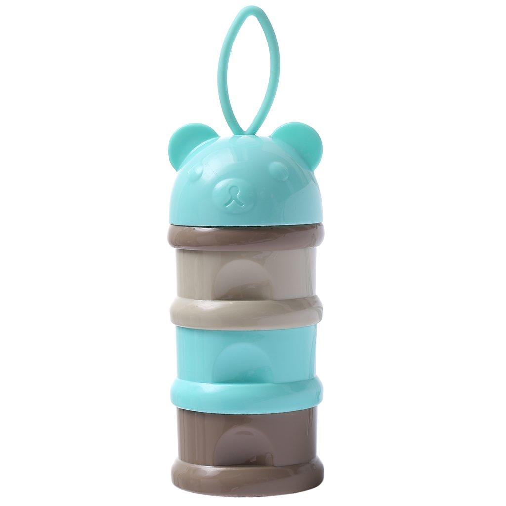 3 Fächer Milchpulverbehälter Milchpulver-Portionierer BPA-frei Behälter Blau