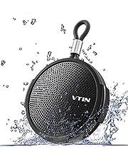 VTIN Mini Cassa Bluetooth 4.2 Ultra Portatile con 8W Suono Potente e Extra Bass, Autonomia di 10 Ore e Audio di Alta Qualità IPX5 Impermeabile con Ventosa per Doccia, Intorno e all'Aperto