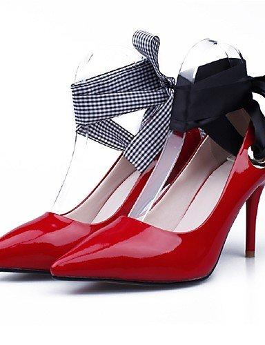 el n noche CN38 di ternero EU pelo vestito puntiagudos tacones stiletto ® mujer Scarpe ZQ EU36 tobillo 37 UK4 di tacones Nero ¨ boda tac striscia Fiesta en negro US6 1UnCw75Yq