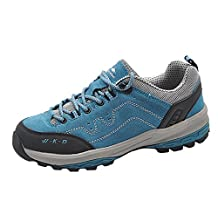 Oncefirst Women's Leather Walking Hiking Shoes