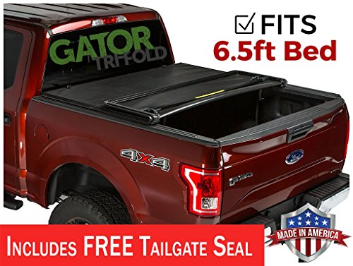 Gator ETX Soft Tri-Fold Truck Bed Tonneau Cover | 59313 | fits Ford F-150 2015-19 (6 1/2 ft bed) ()
