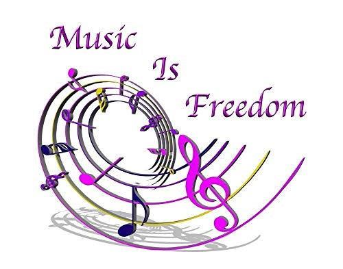 Music Is Freedom Print - 11x14 Unframed Motivational and Inspirational Art Print- A Great Gift for Those Passionate About Music or Dancing - Looks Great in Bedroom, Dorm, Locker - Decor Gift Under $25