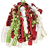 Jillson Roberts 6-Count Christmas Self-Adhesive Gift Wrap Curly Bows, Metallic Red/Lime/Pearl