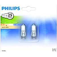 Philips Lot de 2 Ampoules EcoHalogène Culot G9 18 Watts consommés Equivalence incandescence : 25W (Ref: 925697744205)