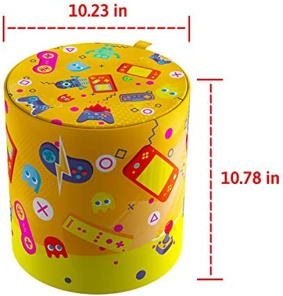 Kids Toy Storage Stool Fun /& Convenient Organization Stool for Modern Parents and Playful Children Living-Room /& More 10.23 x 10.78 Books or Blankets Organizer for Playroom Toys Robots