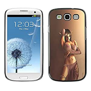 Plastic Shell Protective Case Cover || Samsung Galaxy S3 I9300 || Lingerie Elf Girl Woman Brown @XPTECH