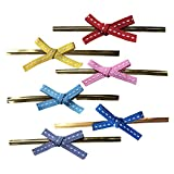 Twist Ties with Bow 150 PCS 6 Colors Bow Twist Ties for Candy Lollipop Bags Gifts Packgae Twist Tie Ribbon