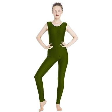 8185dff4b Amazon.com  OVIGILY Women s Spandex Lycra Tank Unitard Dance ...