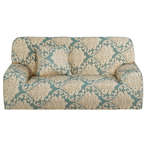 uxcell Stretch Sofa Cover Loveseat Couch Slipcover, Machine Washable, Stylish Furniture Protector Covers with One Cushion Case (3 Seater, Pattern 16) - Pattern Cushion