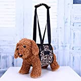 Domybest Dog Lift Support Harness with Handle For Older Injuries Weak(Leopard)(XL)