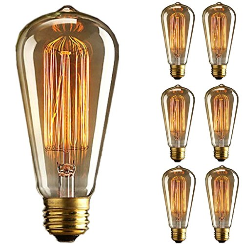 Kingso 6 pack vintage light bulb retro old fashioned - Ampoule e27 40w ...