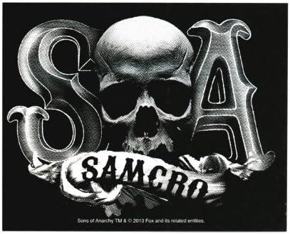 Sons Of Anarchy Samcro Skull B / W Etiqueta: Amazon.es: Juguetes y juegos