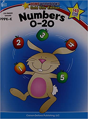 Pda e-book téléchargerNumbers 0-20, Grades PK - K: Gold Star Edition (Home Workbooks) in French PDF ePub MOBI