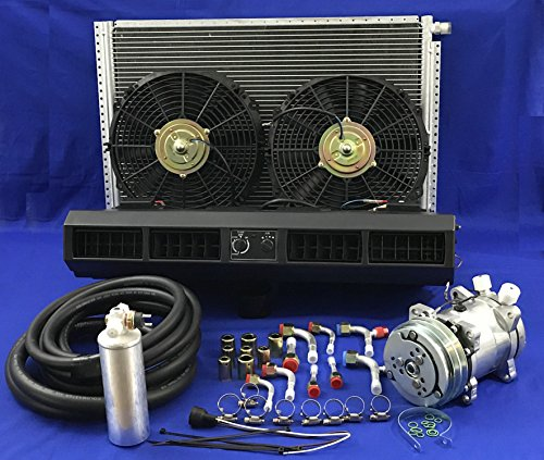 A/C KIT UNIVERSAL UNDER DASH EVAPORATOR KIT AIR CONDITIONER 223-100 B 12V UNIVERSAL A/C SYSTEM IDEAL FOR TRUCKS HEAVY ()