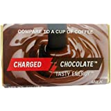 CHARGED CHOCOLATE Caffeine Infused Milk Chocolate Energy Bars 10 Count – Best Alternative to Coffee, Energy Drinks, Soda