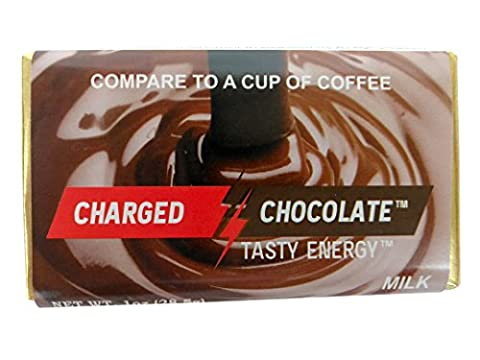 CHARGED CHOCOLATE MILK 10 Count, Caffeine Infused Energy Bar, Extra Caffeinated Chocolate an Energy Drink Alternative