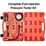 Goplus 0-140PSI Fuel Injection Pressure Tester Kit, Professional Pressure Gauge Test Set w/Convenient Case for Trucks, Cars, ATVs