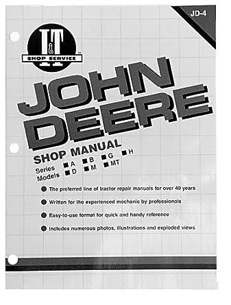 amazon com shop manual john deere 670 770 870 970 1070 tractor rh amazon com