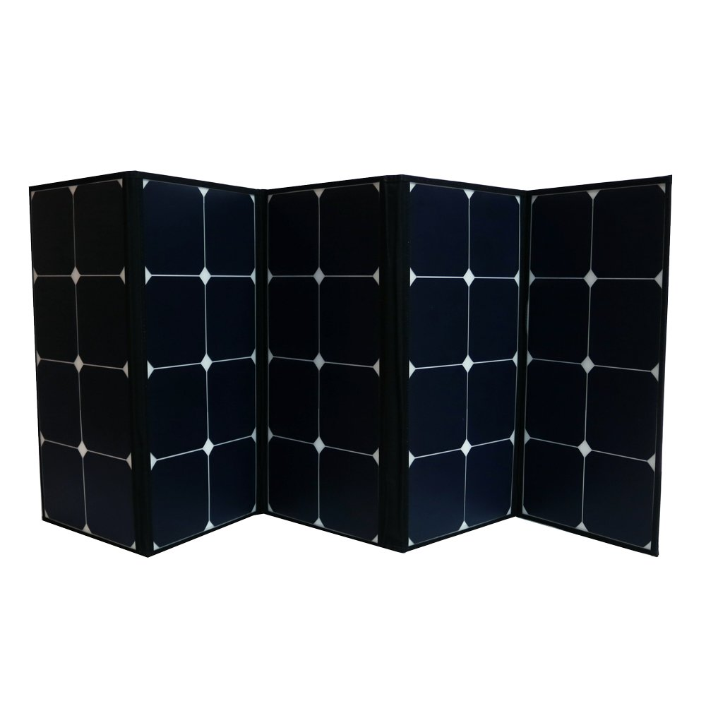 Aims Power PV120CASE 120W Portable Foldable Solar Panel, 120 Watt Built in Carrying Case, Natural Organic