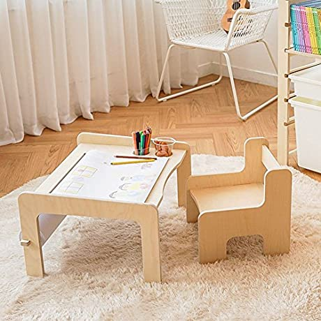KINOKINO Roll Sketch Kids Desk Children S Desk Chair Set Kids Furniture Full Set DESK Chair