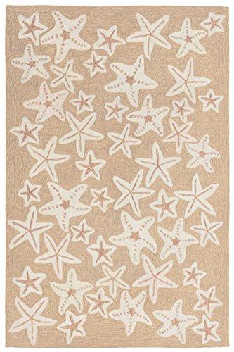 Liora Manne Monaco Sea Star Rug, Neutral, Indoor/Outdoor, 24