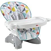 Fisher-Price SpaceSaver High Chair, Geo Multicolor