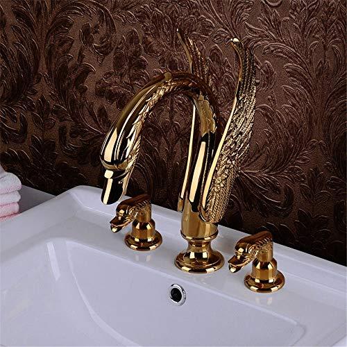 Haiyuguagao Basin Mixer Tap Bathroom Sink Faucet Euro-copper golden dragon high-end chrome faucet antique basin mixer kitchen faucet lead-free green art B sink faucet tool (Color : A)